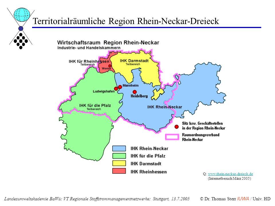 Territorialräumliche Region Rhein-Neckar-Dreieck