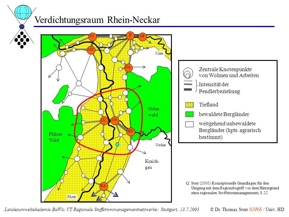 Verdichtungsraum Rhein-Neckar