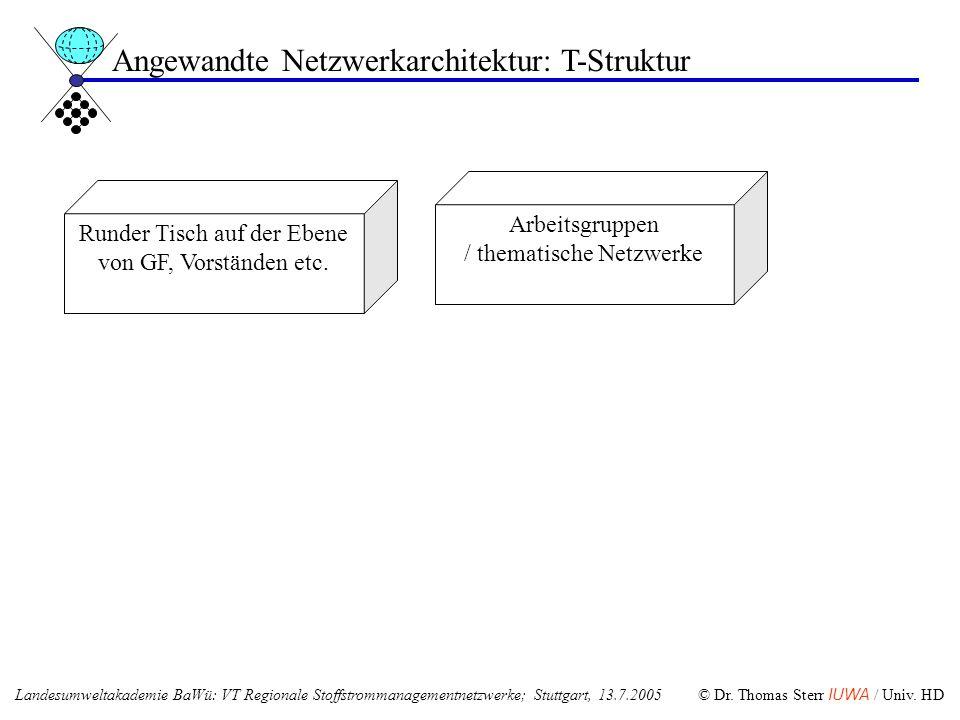 Angewandte Netzwerkarchitektur: T-Struktur