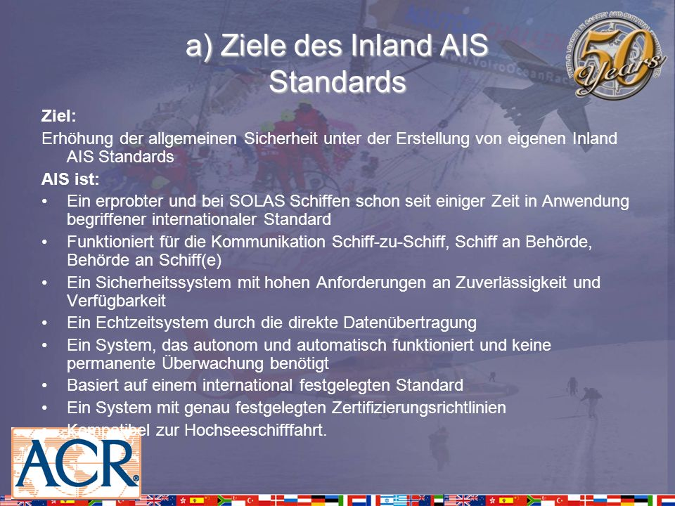 a) Ziele des Inland AIS Standards