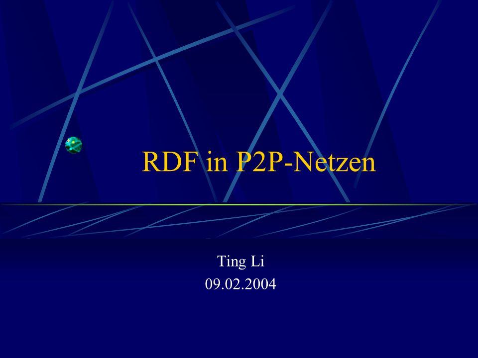 RDF in P2P-Netzen Ting Li 09.02.2004
