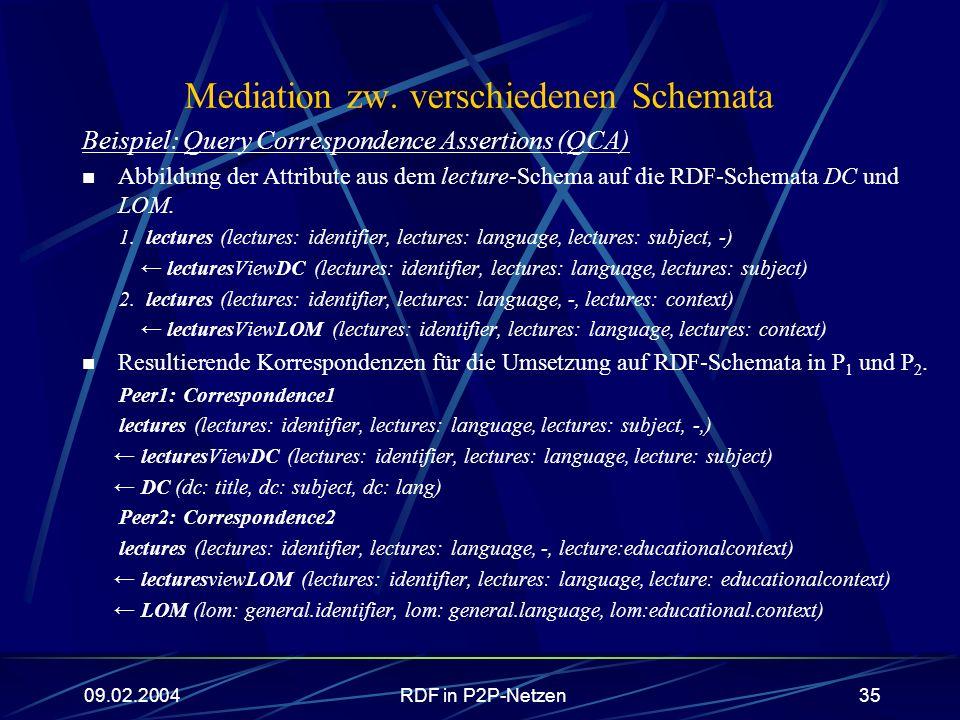 Mediation zw. verschiedenen Schemata
