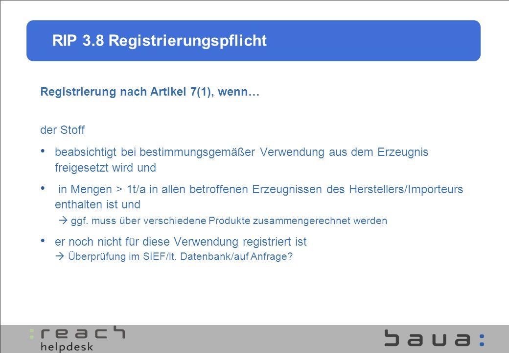 Registrierung nach Artikel 7(1), wenn…