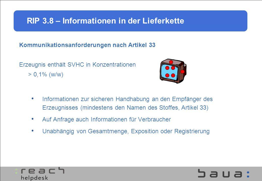 Kommunikationsanforderungen nach Artikel 33