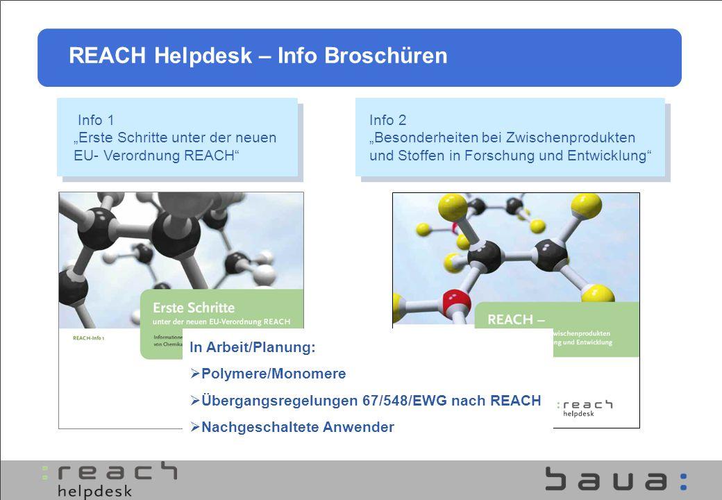 REACH Helpdesk – Info Broschüren