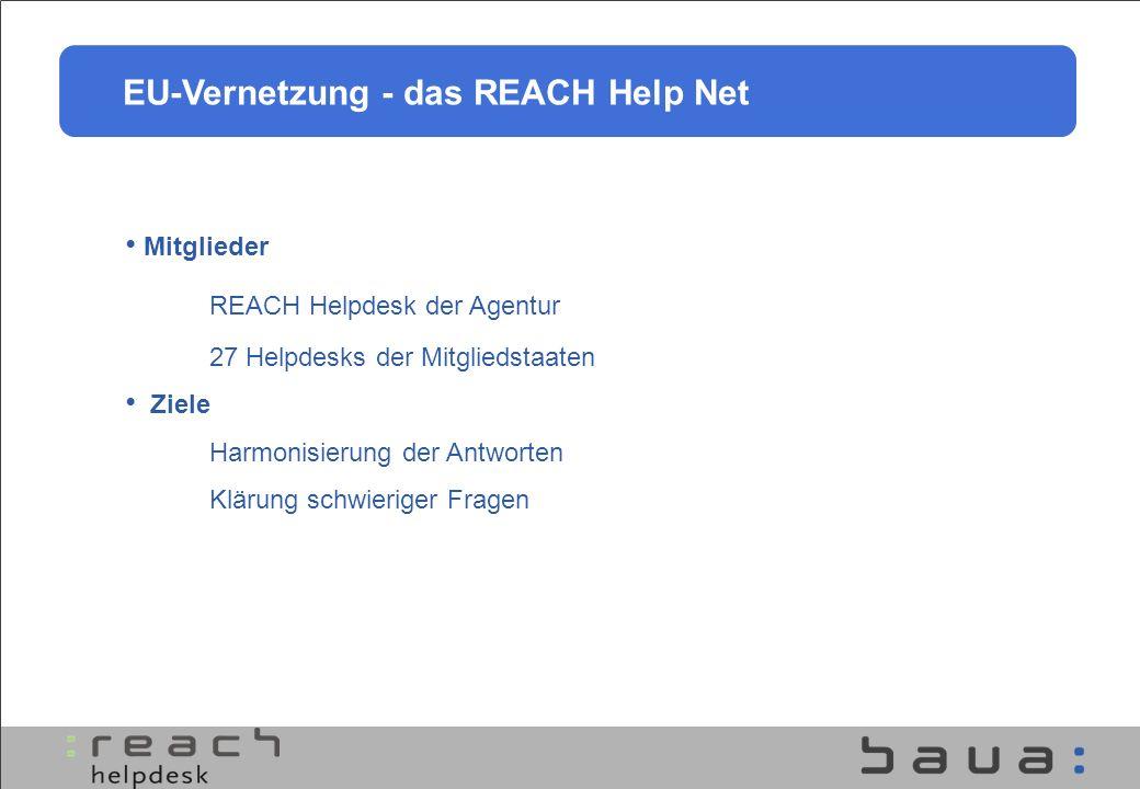 EU-Vernetzung - das REACH Help Net