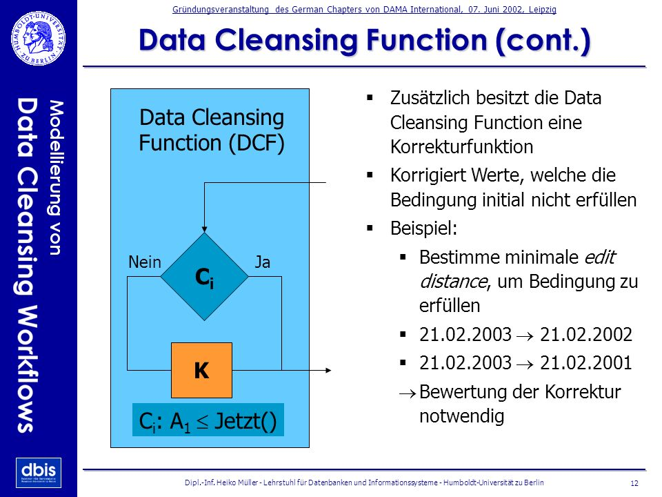 Data Cleansing Function (cont.)
