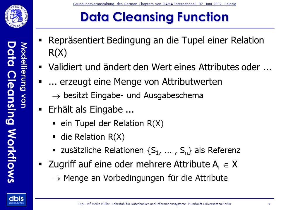 Data Cleansing Function