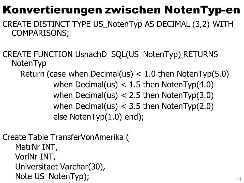 Konvertierungen zwischen NotenTyp-en