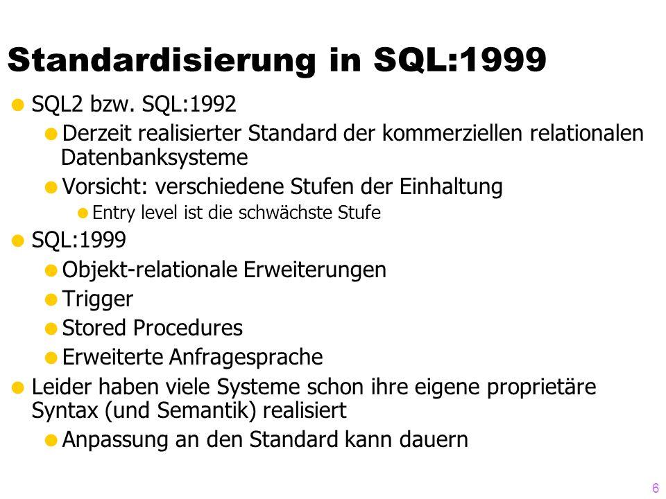 Standardisierung in SQL:1999