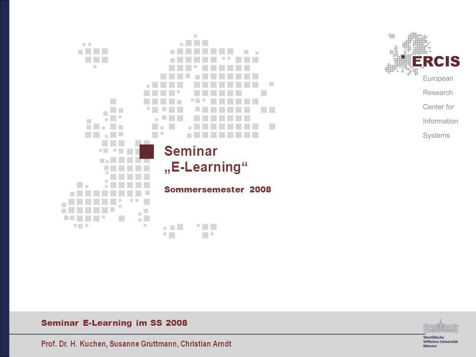 """Seminar """"E-Learning Sommersemester 2008"""