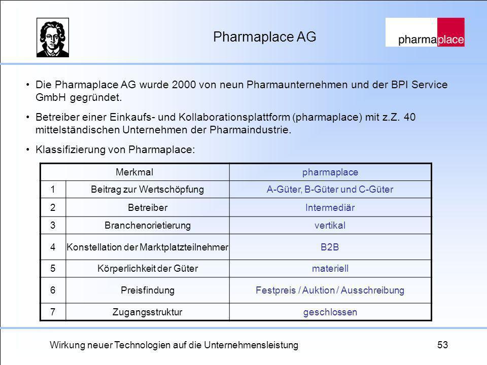 Pharmaplace AG Die Pharmaplace AG wurde 2000 von neun Pharmaunternehmen und der BPI Service GmbH gegründet.