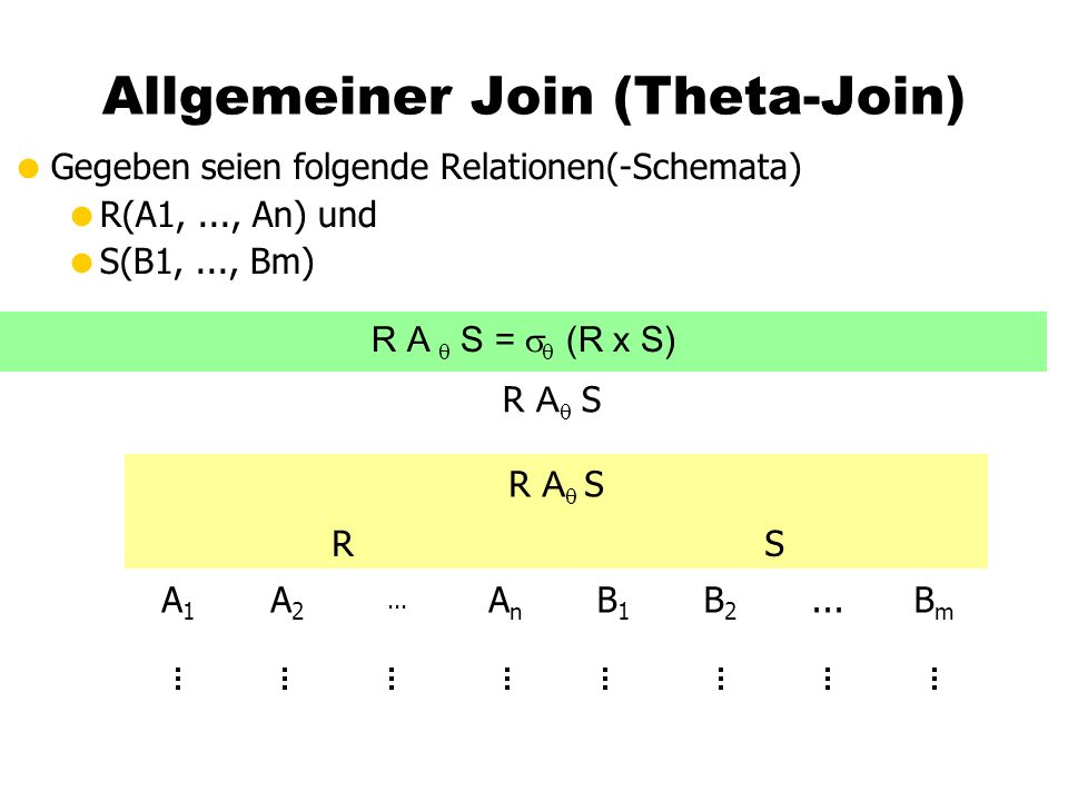 Allgemeiner Join (Theta-Join)