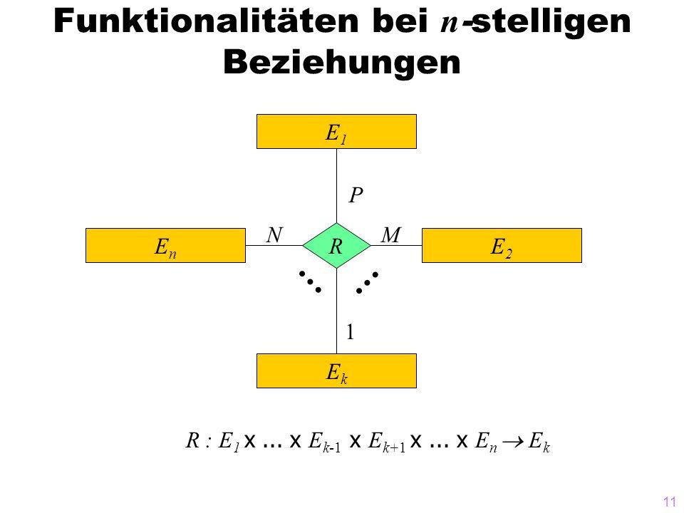 Funktionalitäten bei n-stelligen Beziehungen