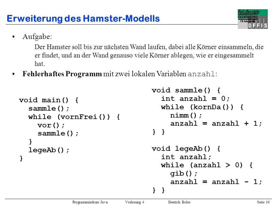 Erweiterung des Hamster-Modells
