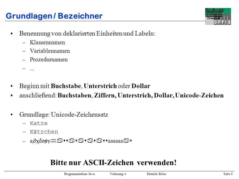 Grundlagen / Bezeichner