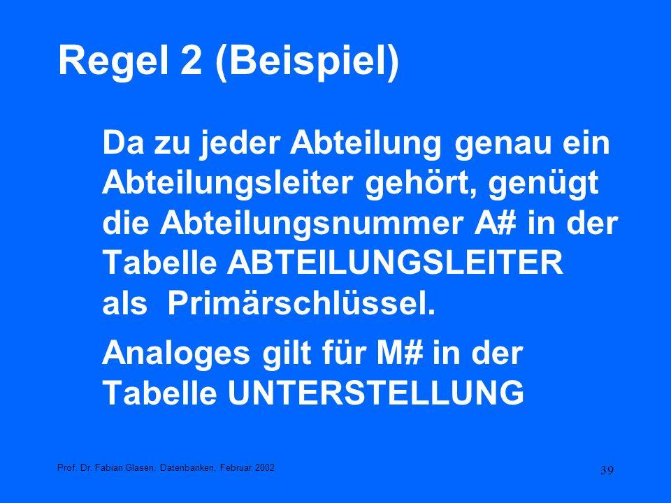 Regel 2 (Beispiel)
