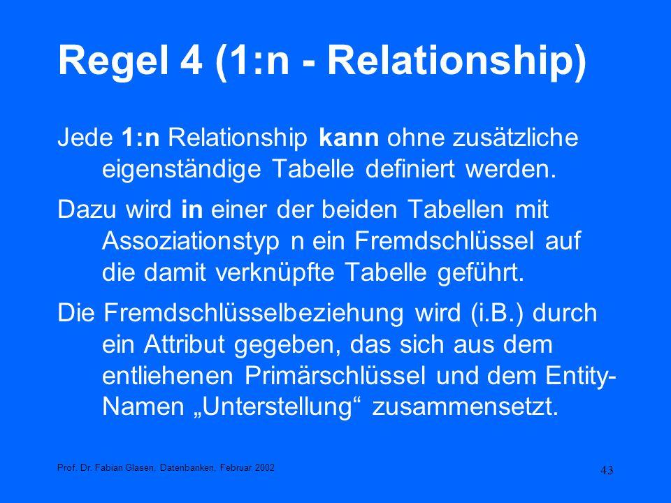 Regel 4 (1:n - Relationship)
