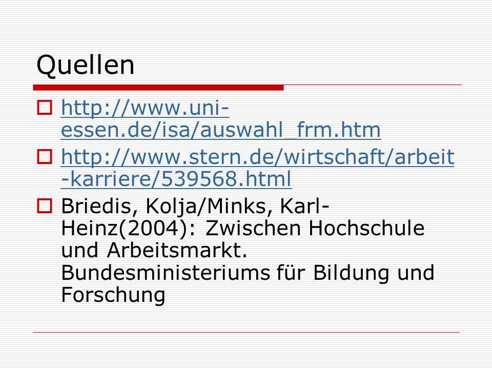 Quellen http://www.uni-essen.de/isa/auswahl_frm.htm