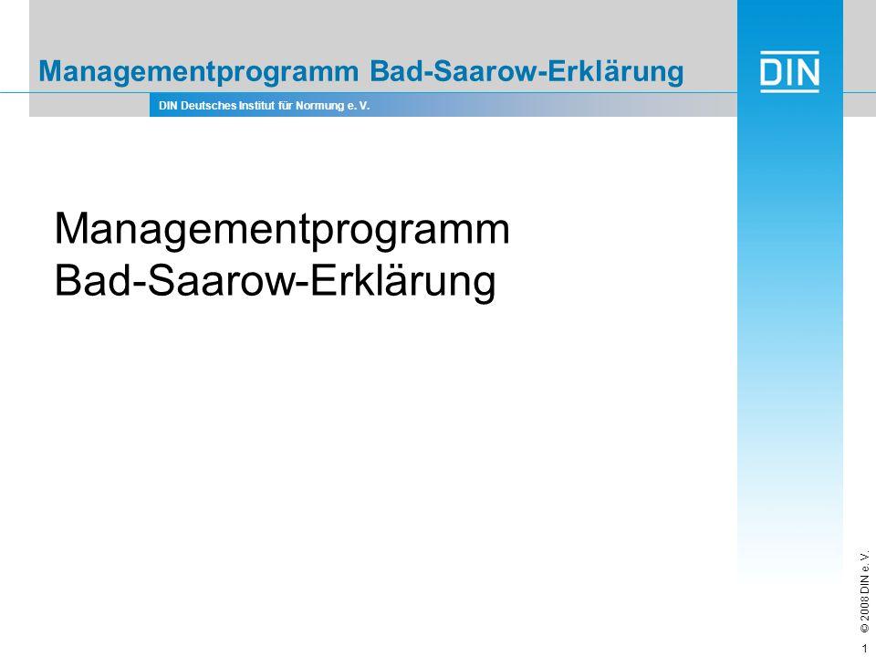 Managementprogramm Bad-Saarow-Erklärung