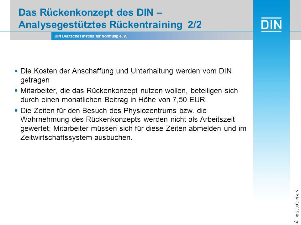 Das Rückenkonzept des DIN – Analysegestütztes Rückentraining 2/2