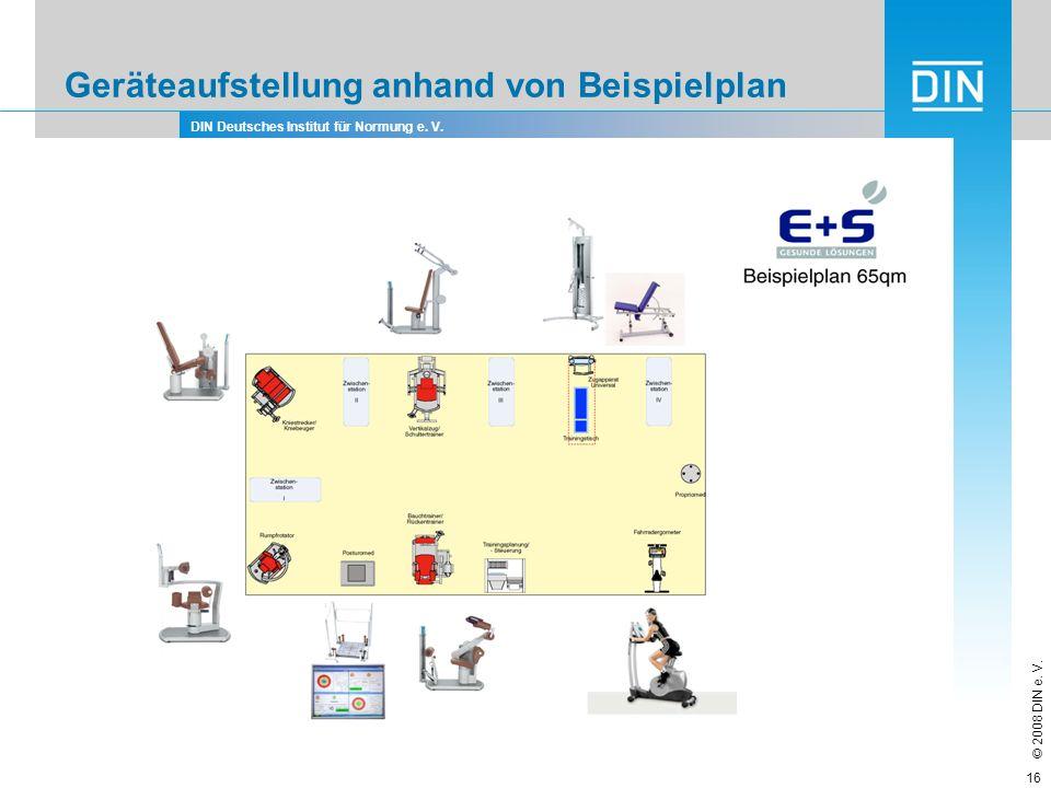 Geräteaufstellung anhand von Beispielplan