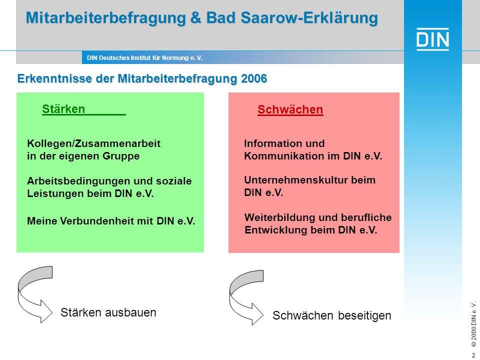 Mitarbeiterbefragung & Bad Saarow-Erklärung