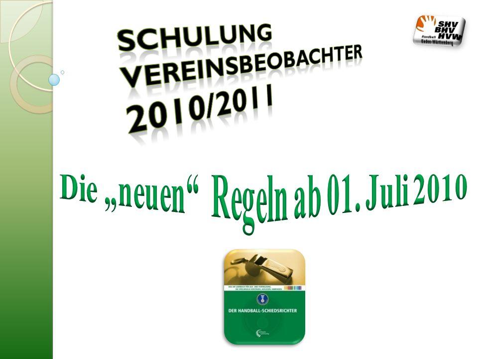 Schulung Vereinsbeobachter 2010/2011