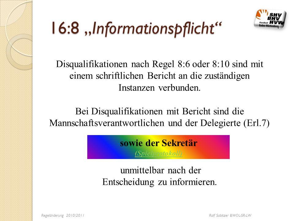 """16:8 """"Informationspflicht"""
