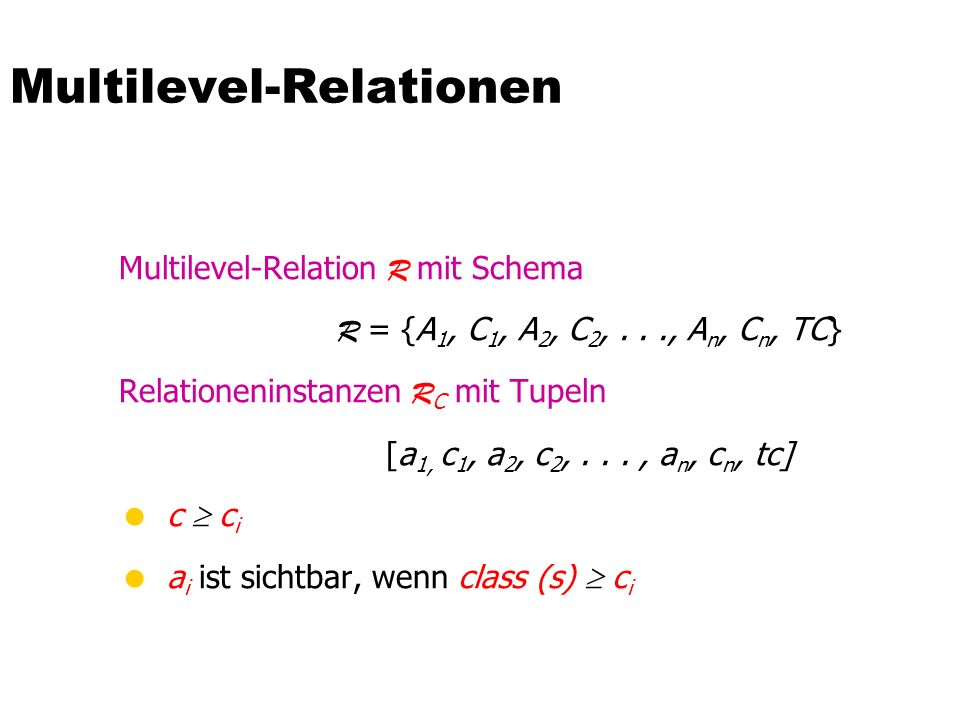 Multilevel-Relationen
