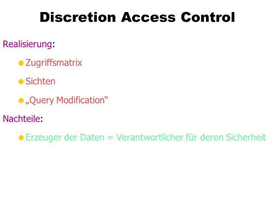 Discretion Access Control