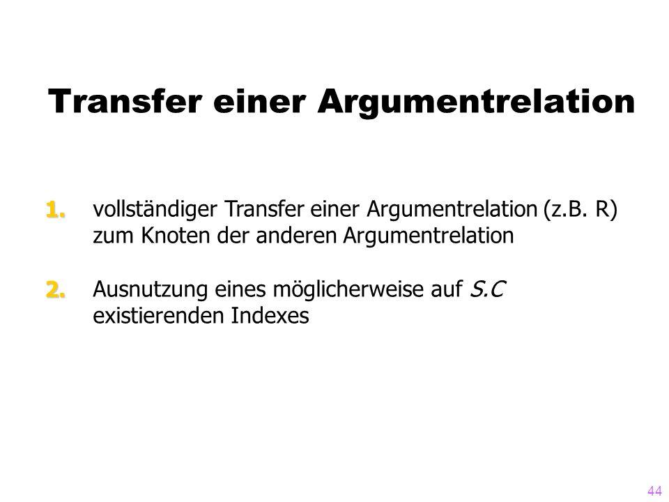 Transfer einer Argumentrelation
