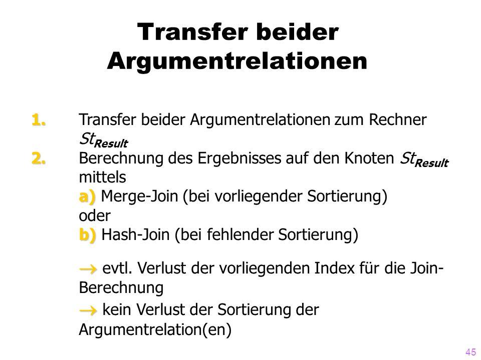 Transfer beider Argumentrelationen