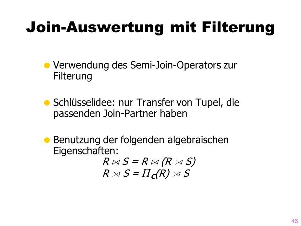 Join-Auswertung mit Filterung