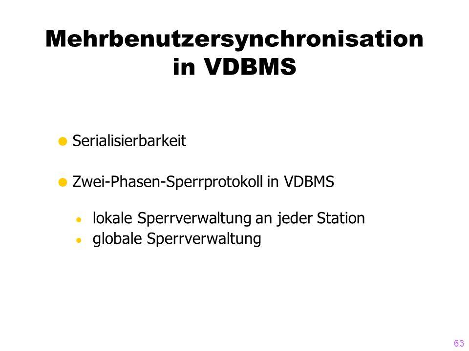 Mehrbenutzersynchronisation in VDBMS