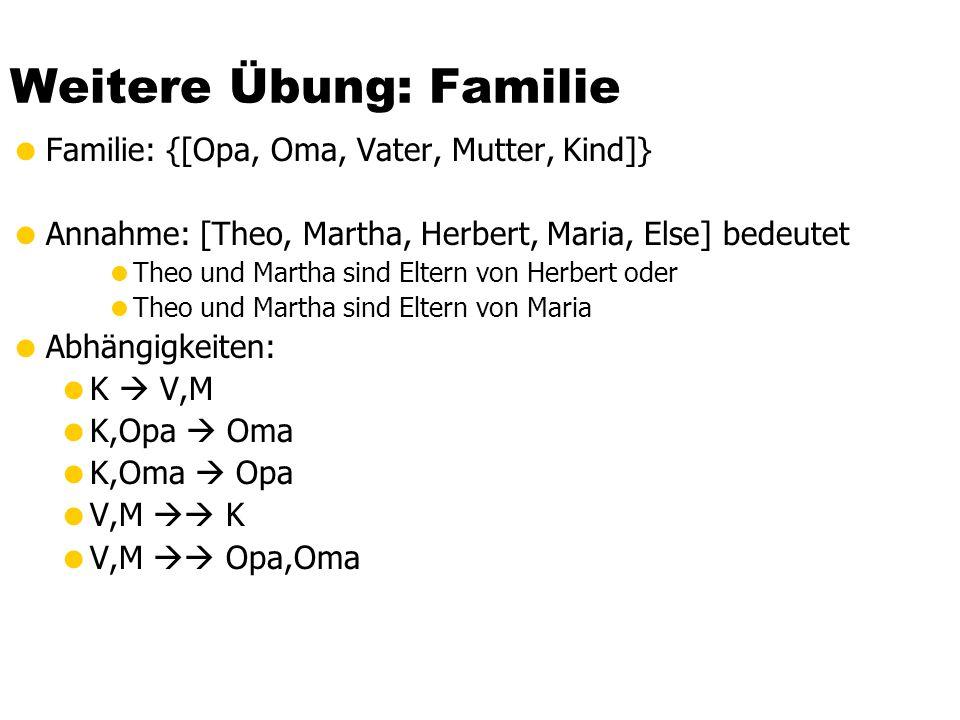 Weitere Übung: Familie
