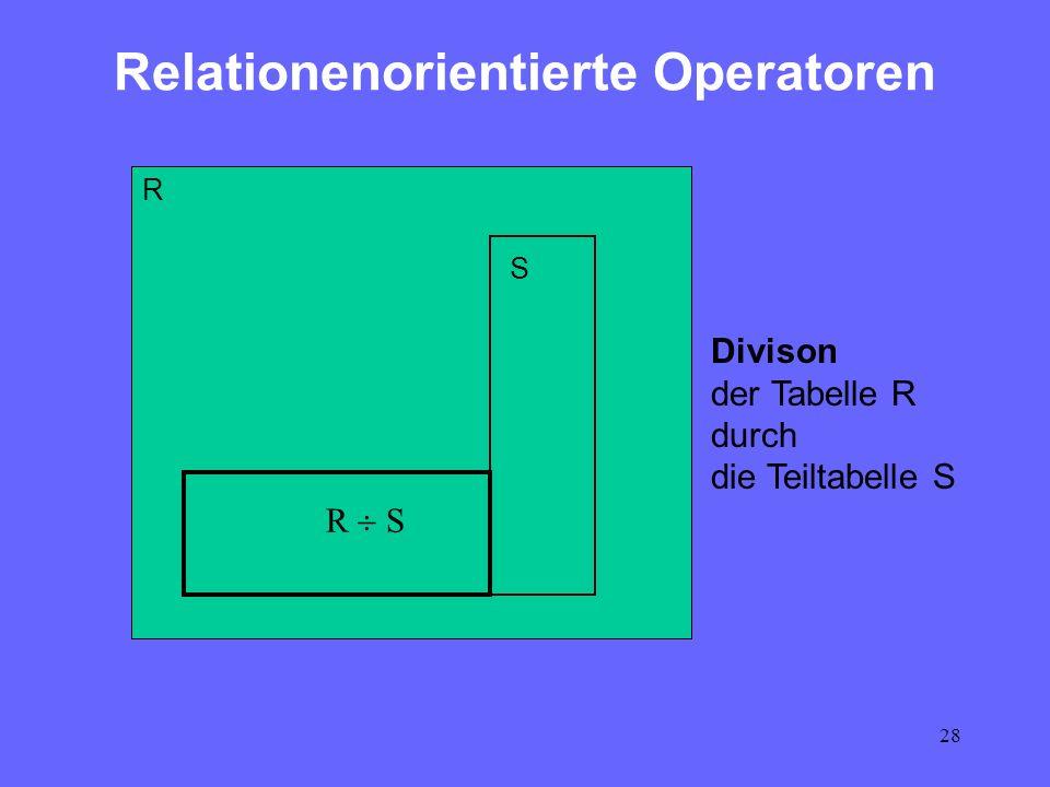 Relationenorientierte Operatoren