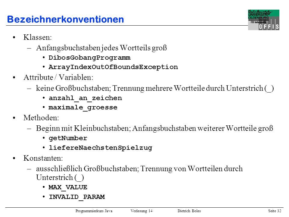 Bezeichnerkonventionen