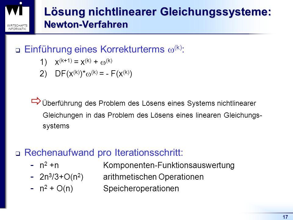 Lösung nichtlinearer Gleichungssysteme: Newton-Verfahren