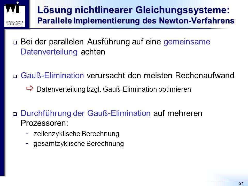  Datenverteilung bzgl. Gauß-Elimination optimieren