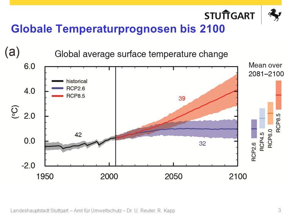 Globale Temperaturprognosen bis 2100