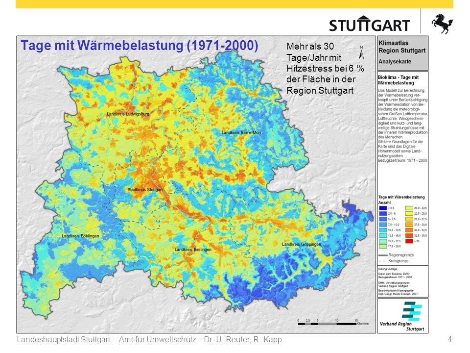 Tage mit Wärmebelastung (1971-2000)