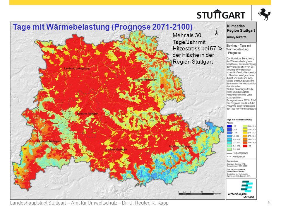 Tage mit Wärmebelastung (Prognose 2071-2100)