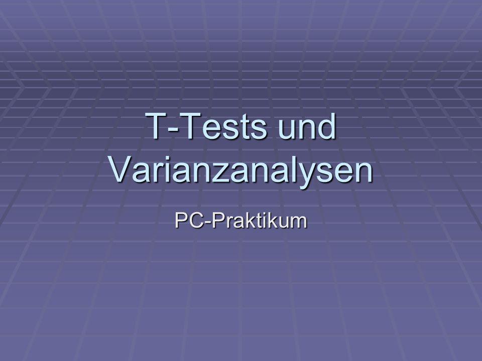 T-Tests und Varianzanalysen