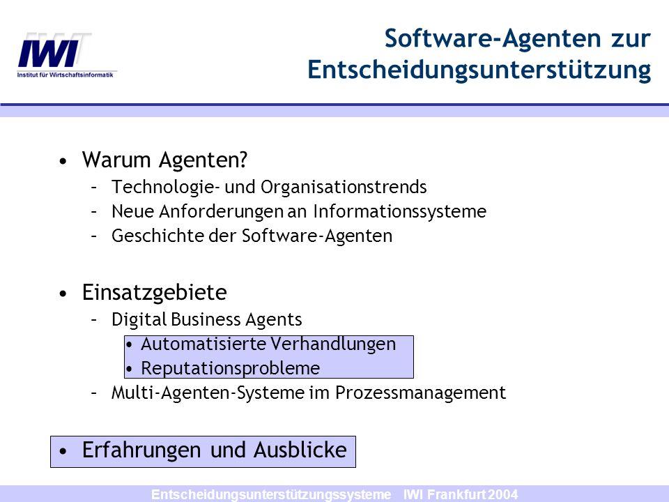 Software-Agenten zur Entscheidungsunterstützung