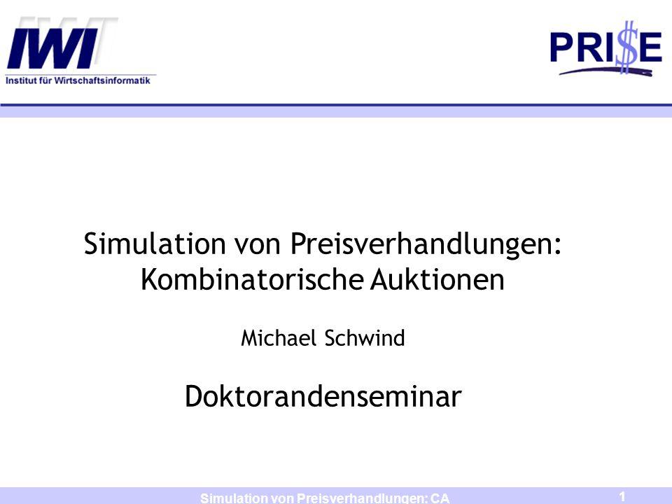 Simulation von Preisverhandlungen: CA