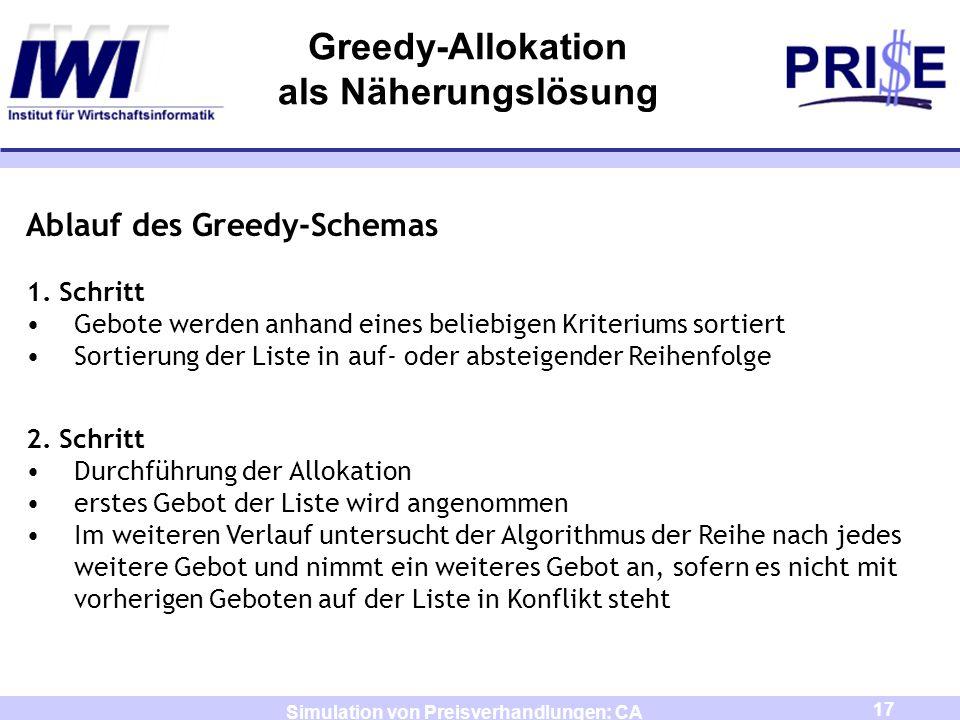 Greedy-Allokation als Näherungslösung