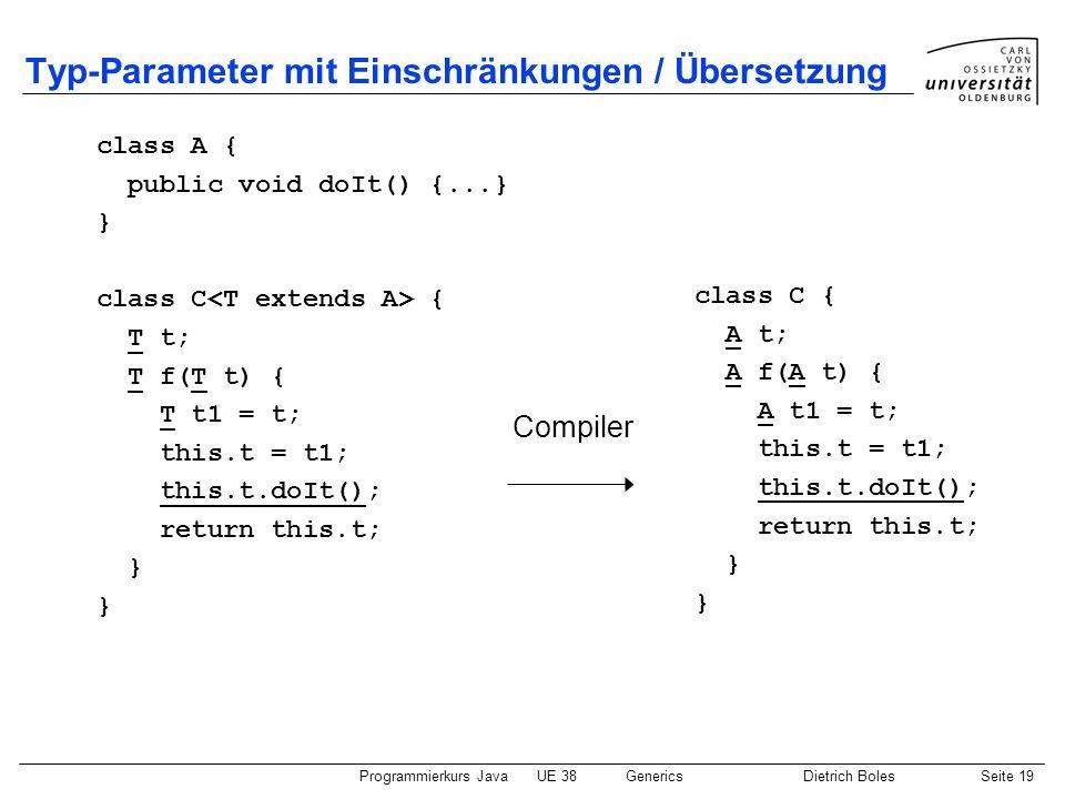Typ-Parameter mit Einschränkungen / Übersetzung