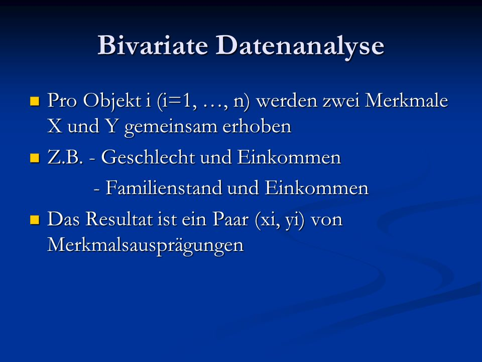 Bivariate Datenanalyse
