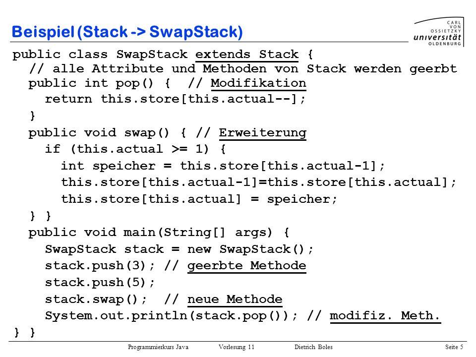 Beispiel (Stack -> SwapStack)